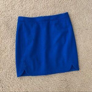 J. Crew Cobalt Blue Scallop Skirt